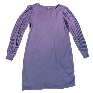 Ann Taylor Purple Puff Sleeve Shift Dress SP